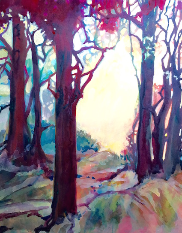 Into the Light, Acrylic on Paper, Sara Joseph