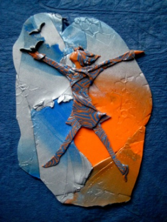 Freed, Polymer Clay relief sculpture, Sara Joseph