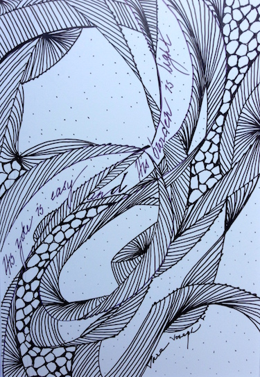 The Easy Yoke, Pen and Ink, Sara Joseph