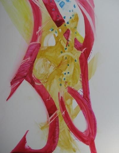 Joy, Watercolor, Sara Joseph