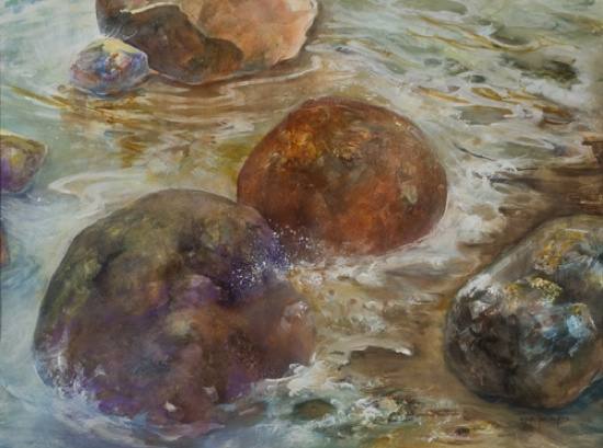 Rock and Rollin, Mixed Media Art by Roye Jan Myers