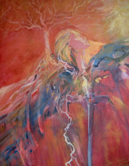 Rooted and Grounded, Acrylic on canvas, Sara Joseph