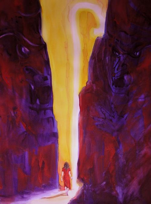 Through the Valley, Watercolor by Sara Joseph