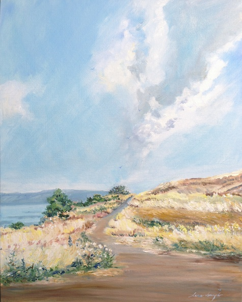 A Glimpse of Galilee, Oil on Canvas Board, by Sara Joseph