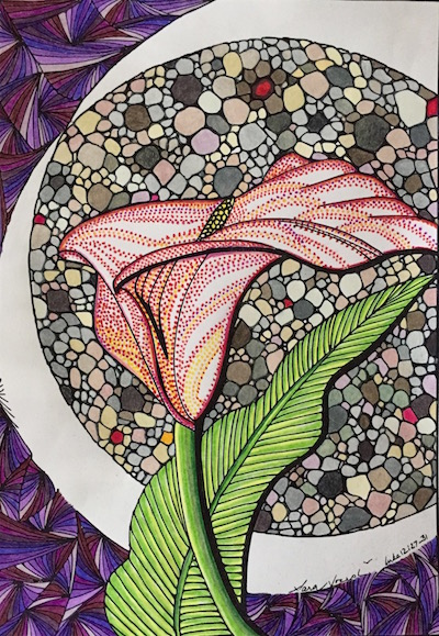 Nina Joseph's coloring page from Consider the Lilies: An Adult Coloring Devotional Journal by Sara Joseph
