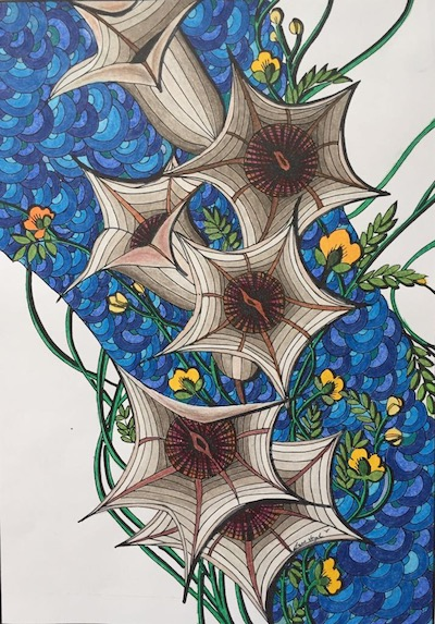 Seed, Nina Joseph's coloring page from The Power of the Seed: An Adult Coloring Devotional Journal by Sara Joseph
