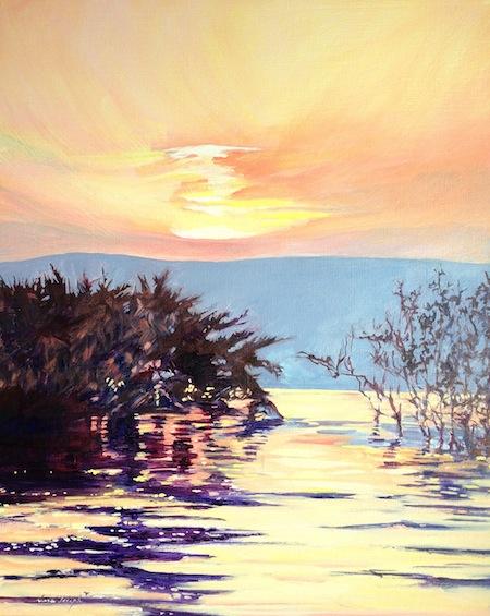 Sunrise over the Galilee, Oil, Sara Joseph