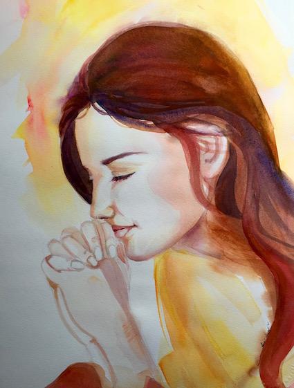 Willing, Watercolor by Sara Joseph