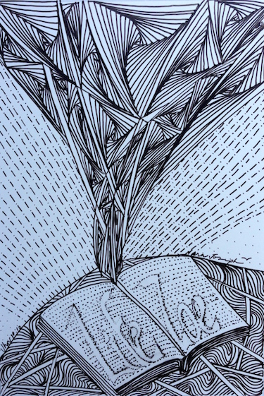 Zoe, Pen and Ink by Sara Joseph