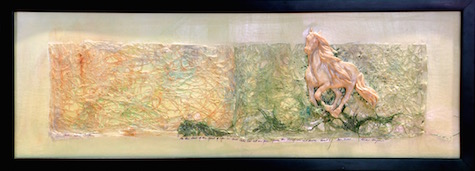 Born Free, Mixed Media Relief Sculpture, Sara Joseph