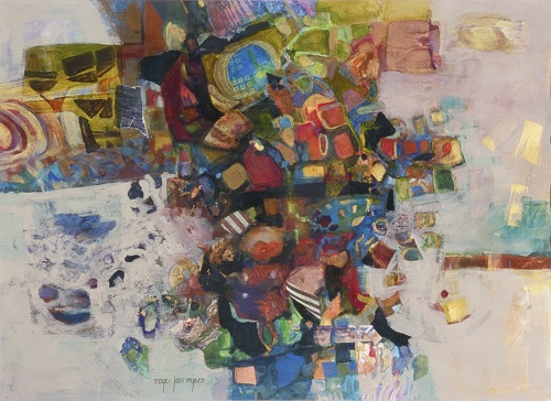 Gimme More, Mixed Media Collage Art by Roye Jan Myers
