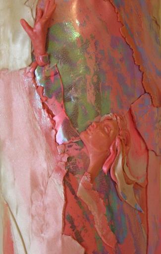 Faith, Polymer Clay Relief Sculpture by Sara Joseph