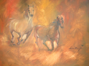 In Open Country, Oil on Canvas, Sara Joseph
