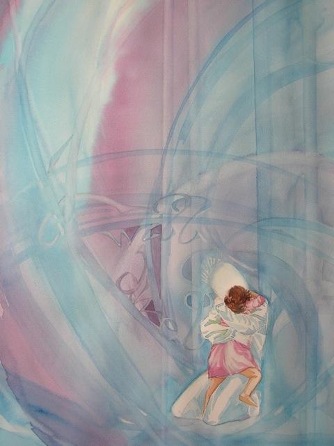 I will Dwell, Watercolor by Sara Joseph
