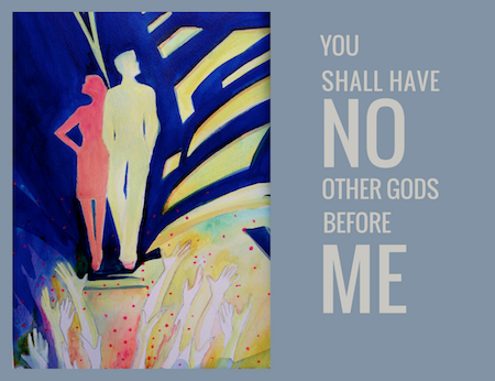 The Second Commandment, Waterolor, Sara Joseph