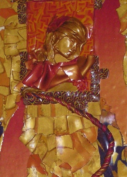 Rahab, Detail, Polymer Clay Relief Sculpture by Sara Joseph