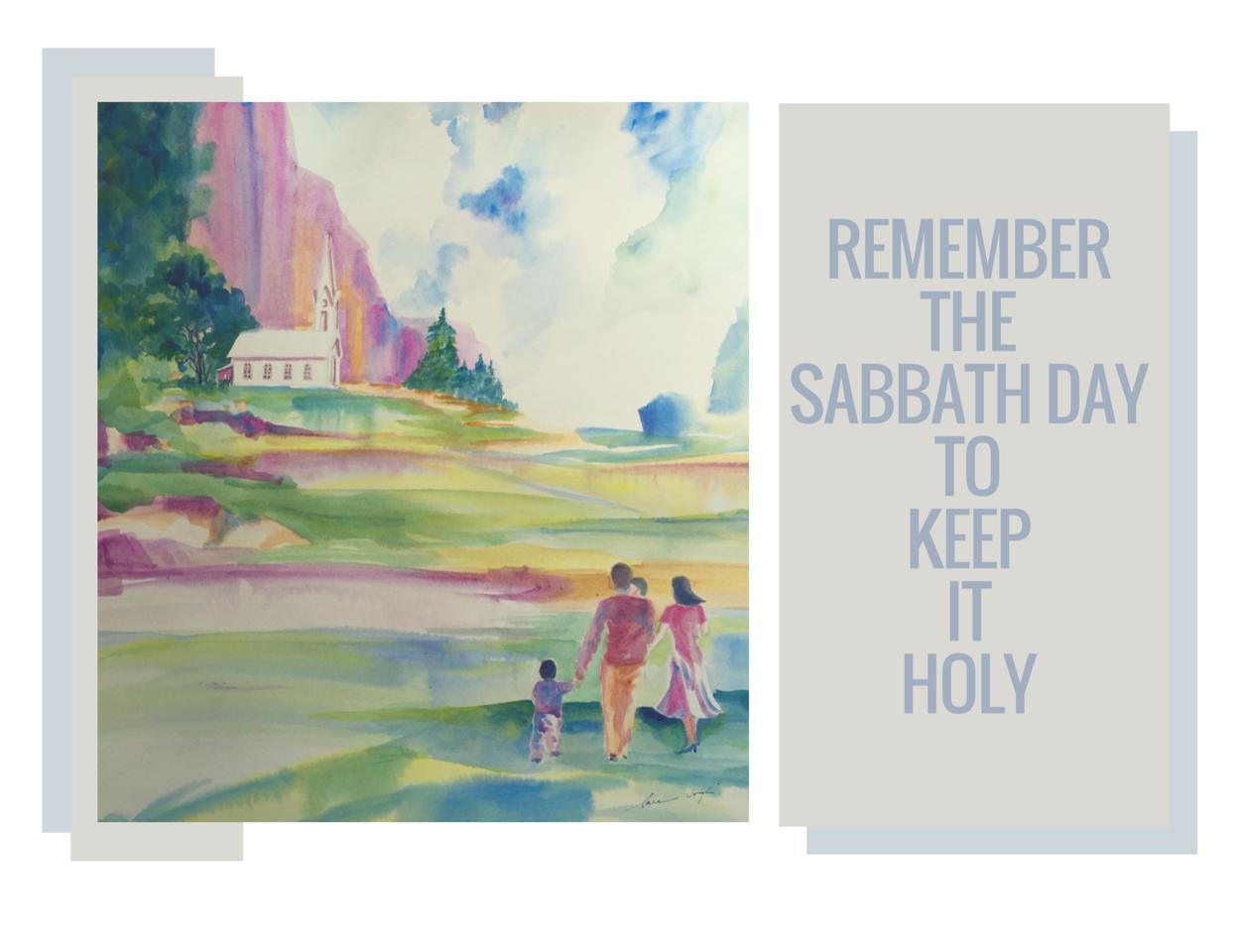 The Fourth Commandment, Watercolor, Sara Joseph