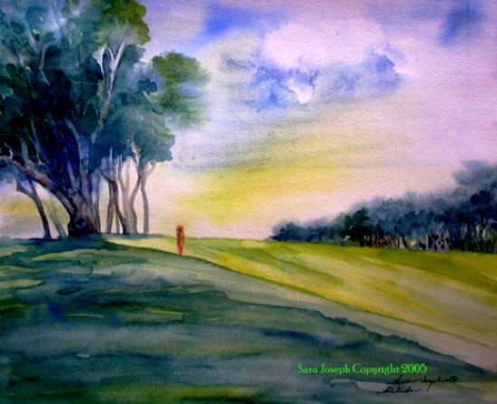 Solitude, Watercolor, Sara Joseph