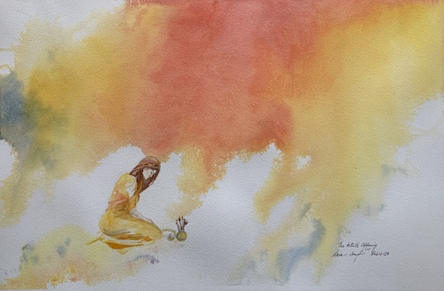 The Artist's Offering, Watercolor, Sara Joseph