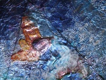 The Watering, Foil Art by Sara Joseph