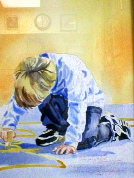The Young Artist, Watercolor, Sara Joseph