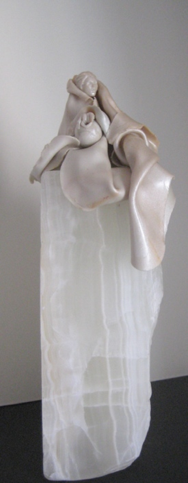 The Water Bearer, Polymer Clay and Marble by Sara Joseph