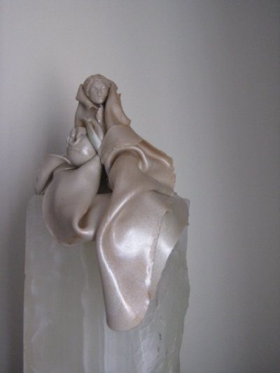 The Water Bearer, Detail 2, Polymer Clay and Marble by Sara Joseph