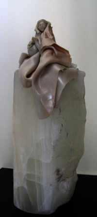 The Water Bearer, Detail 3, Polymer Clay and Marble by Sara Joseph
