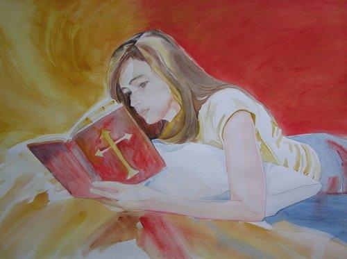 Bella, Watercolor, Sara Joseph