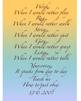 Obey, Poem by Sara Joseph