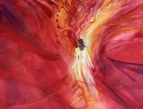 Spirit-Led, Watercolor, Sara Joseph
