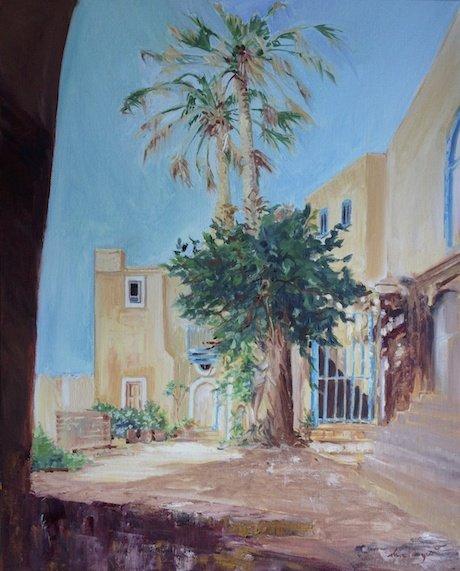 Around the Bend, Joppa, Oil on Canvas Board by Sara Joseph