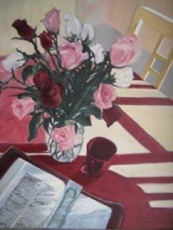 Gathering Manna, Oil on Canvas, Sara Joseph
