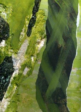 Green Pastures, Mixed Media Collage, Laraine E Centineo