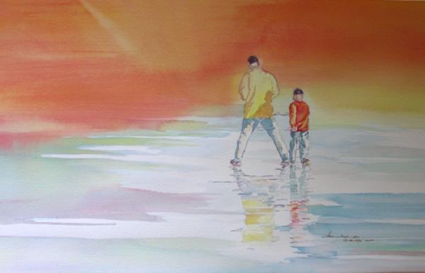 In His Steps watercolor Sara Joseph