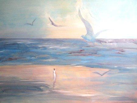 In His Presence, Acrylic on Canvas, Sara Joseph