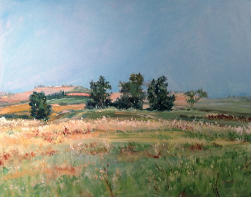 Land of Milk and Honey, Israel, Oil Painting, Sara Joseph