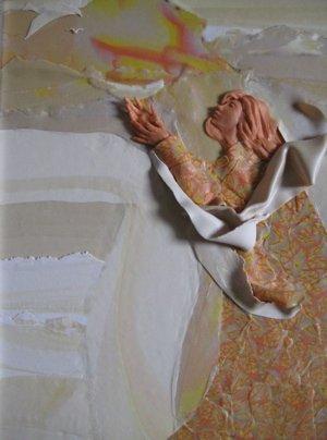 Release, Polymer Clay Relief Sculpture, Sara Joseph