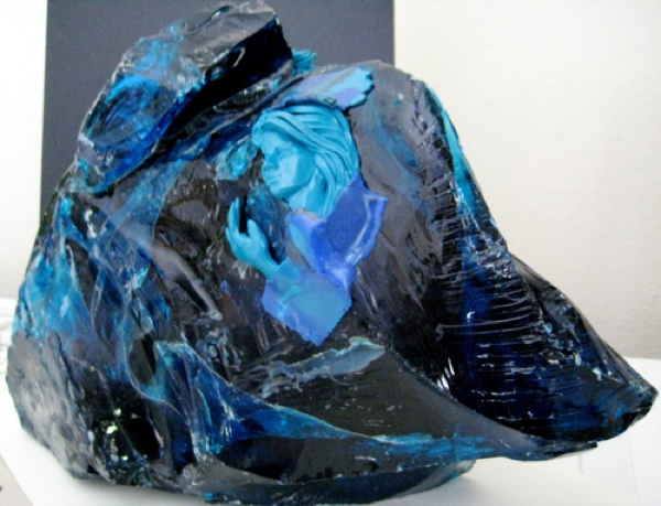Rock of Ages, Polymer Clay and Glass by Sara Joseph