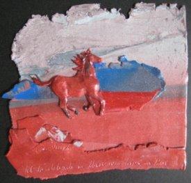 His Delight, Polymer Clay Relief Sculpture, Sara Joseph