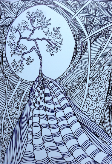 Steadfast 2, Pen and Ink by Sara Joseph