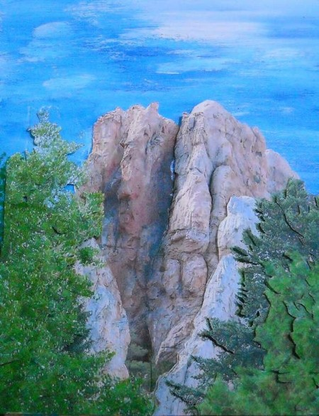 The Cleft of the Rock, Paper Sculpture, Elva Robinson